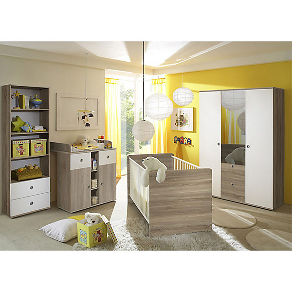 babyzimmer milu ii 4 tlg kleiderschrank 3 trg. Black Bedroom Furniture Sets. Home Design Ideas