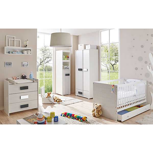 babyzimmer irene classic 6 tlg kinderbett schubkasten wickelkommode kleiderschrank. Black Bedroom Furniture Sets. Home Design Ideas