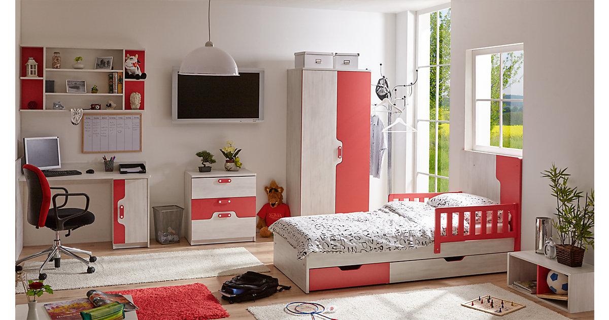 Kinderzimmer Nino II, 7-tlg. (Kleiderschrank, K...