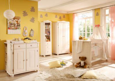 Babyzimmer Lara, 5-tlg. (Kleiderschrank 2-trg., Kinderbett ...