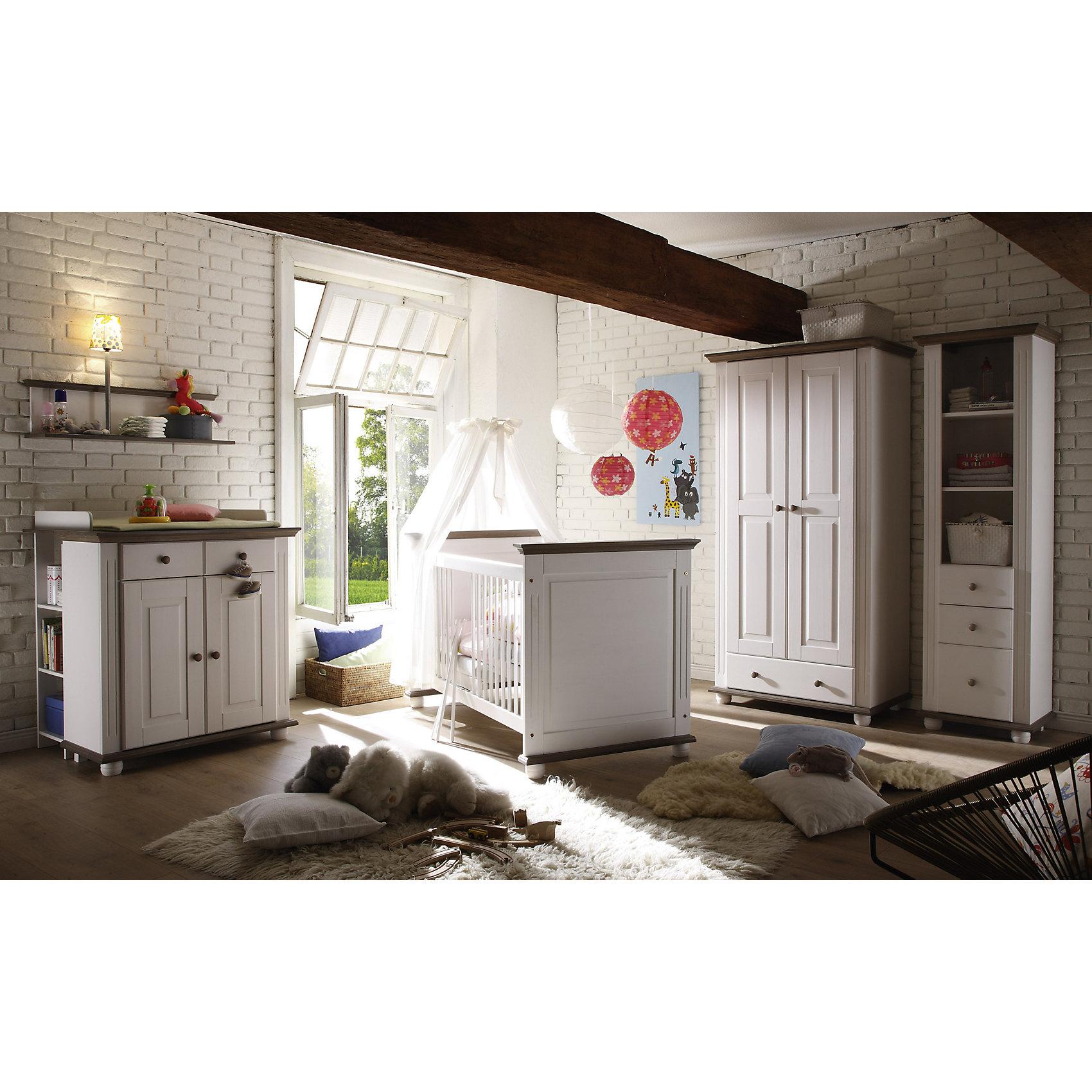 Sonstige null babyzimmer laura i 5 tlg kleiderschrank 2 trg kinderbett wickelkommode - Kinderbett landhausstil ...