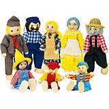 """Куклы """"Семья деревенская 8 в 1"""", goki"""