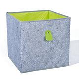 Aufbewahrungsbox Widdy, grau/grün