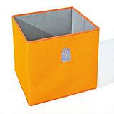 Aufbewahrungsbox Widdy, orange/grau