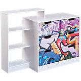 FSC KIDZ-Line Kommode, graffiti, weiß