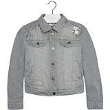 Джинсовая куртка для девочки Mayoral