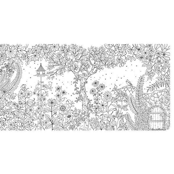 """Книга для творчества и вдохновения """"Таинственный сад"""", Джоанна Бэсфорд"""