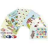 Kinder-Postkarten-Set, 7 Stück