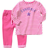CONVERSE Baby Set Langarmshirt + Hose für Mädchen