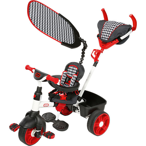 4-in-1 Trike Deluxe Sports Edition (rot/weiß)