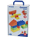 Конструктор GUMMI BLOCKS, 19 элементов, Miniland