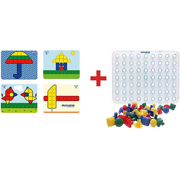"""Мозаика """"Гигант"""", 64 элемента, 4 этюда, Miniland"""