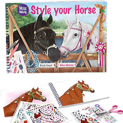 Malbuch Style your Horse Miss Melody, sortiert