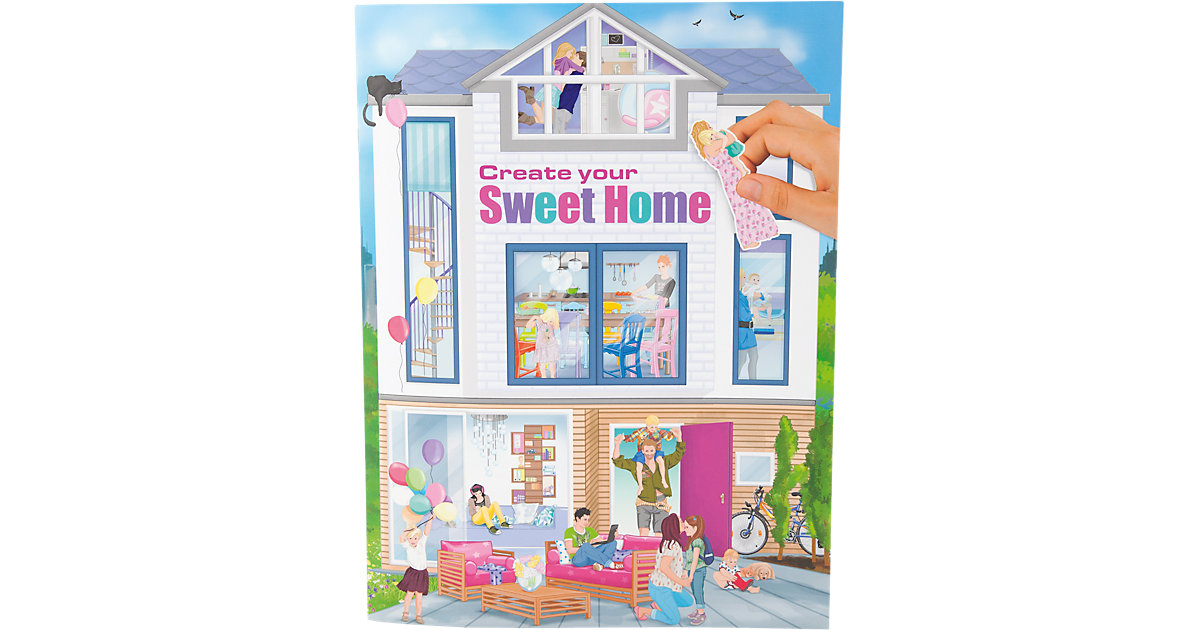 Malbuch Clip Clap Create your Sweet Home