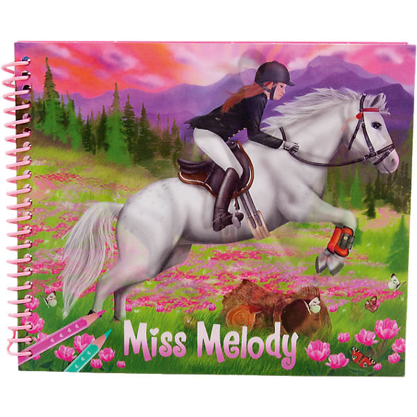 Malbuch Dress up your Horse Miss Melody, sortiert