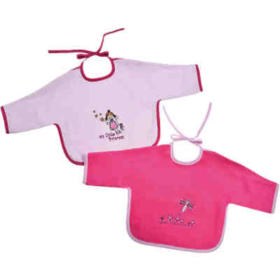 Ärmellätzchen Little Princess rosé + Schmetterling pink, 68 x 34 cm, 2er-Set