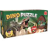 Dino Puzzle - 3 Eier in einer Box
