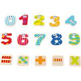 Holz Magnet Zahlen und Zeichen