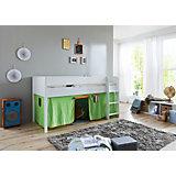 Vorhangset für Spielbetten, grün/orange