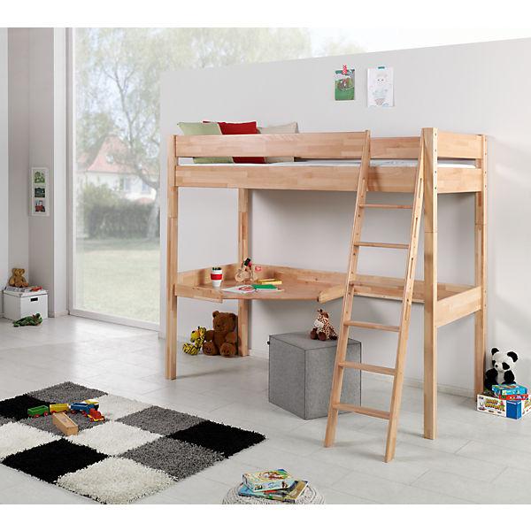 hochbett renate 90x200 inkl rollrost buche geleimt. Black Bedroom Furniture Sets. Home Design Ideas