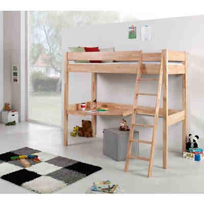 hochbett renate 90x200 inkl rollrost buche geleimt natur lackiert relita mytoys. Black Bedroom Furniture Sets. Home Design Ideas