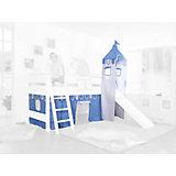 Vorhangset mit Turm für Spielbetten, hellblau