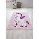 Kinderteppich Einhorn, rosa, 170 x 120 cm