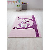 Kinderteppich Eule, rosa,  170 x 120 cm