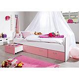 Sofabett Bonny, weiß/rosa, 90 x 200 cm