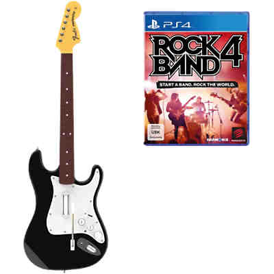 PS4 Rock Band 4 Wireless Fender Stratocaster Bundle