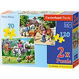Puzzleset 70/120 Teile - Pferdereiten