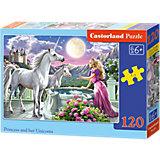 Puzzle 120 Teile - Prinzessin und Einhorn