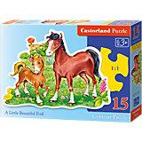 Konturenpuzzle 15 Teile - Ponys