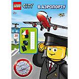 "Книга с мини-конструктором ""В аэропорту"", LEGO City"