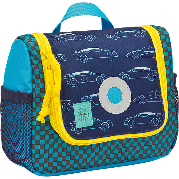 Kulturbeutel 4kids, Mini Washbag, Cars navy
