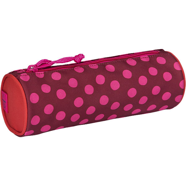 Schlampermäppchen 4kids, School Pencil Case, Dottie red