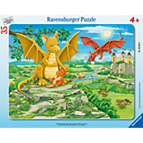 Пазл «Семья драконов», 35 деталей, Ravensburger