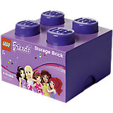 Lego Friends Storage Brick 4er Stein lila