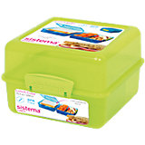 Lunchbox 3-fach unterteilt grün