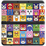 New 3DS Zierblende Animal Crossing-Gesichter