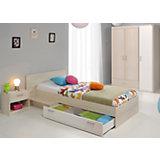 Komplettzimmer Charly 3-tlg. (Kleiderschrank 3-trg., Bett inkl. Bettschubkasten, Nachttisch), Akazie