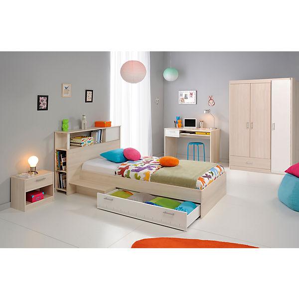 komplett jugendzimmer charly 5 tlg kleiderschrank 3 trg bett inkl bettschubkasten. Black Bedroom Furniture Sets. Home Design Ideas