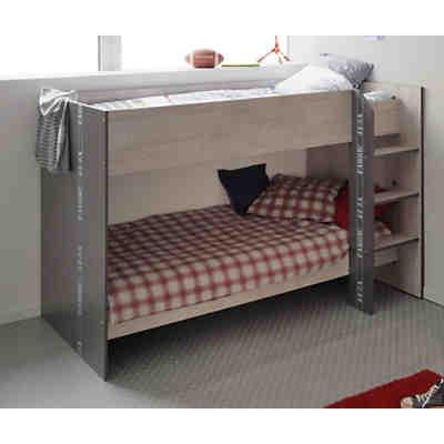 etagenbett hublot 90 x 200 cm akazie grau wei parisot mytoys. Black Bedroom Furniture Sets. Home Design Ideas