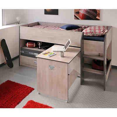 Hochbett milky 90 x 200 cm wei grau parisot mytoys for Schreibtisch yasmin