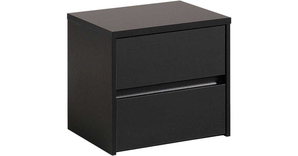 nachttisch schwarz hochglanz. Black Bedroom Furniture Sets. Home Design Ideas