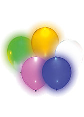 LED-Luftballons bunt, 5 Stück