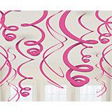 Dekospiralen pink, 12 Stück