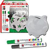 Porcelain For Kids Set Spardose Money Pig
