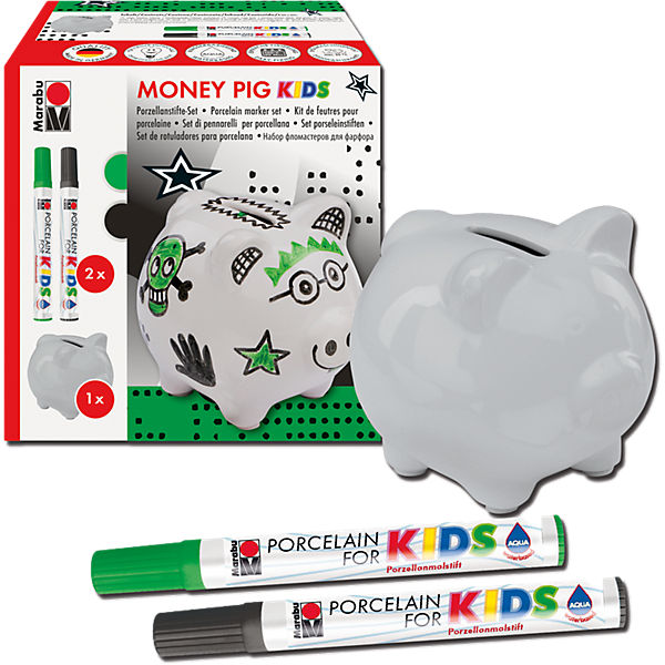 Porcelain For Kids Set Spardose Money Pig