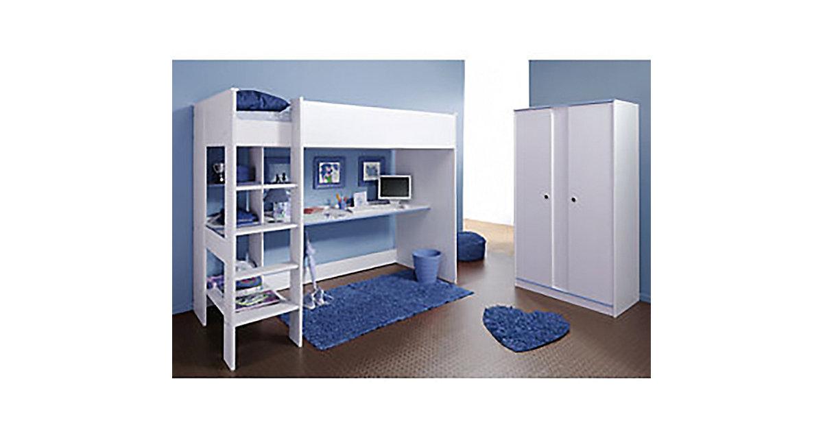 hochbett schreibtisch kleiderschrank. Black Bedroom Furniture Sets. Home Design Ideas